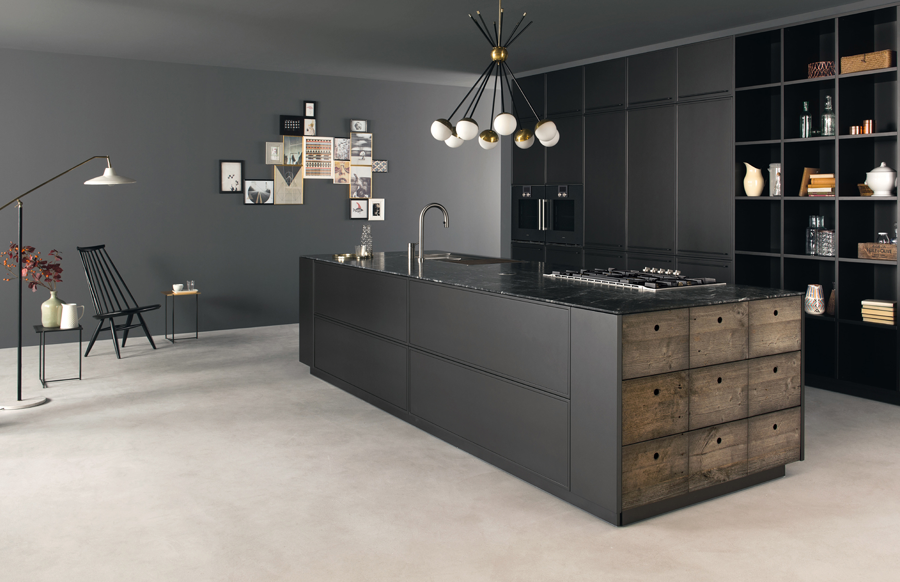 Cucina acciaio e legno | Factory