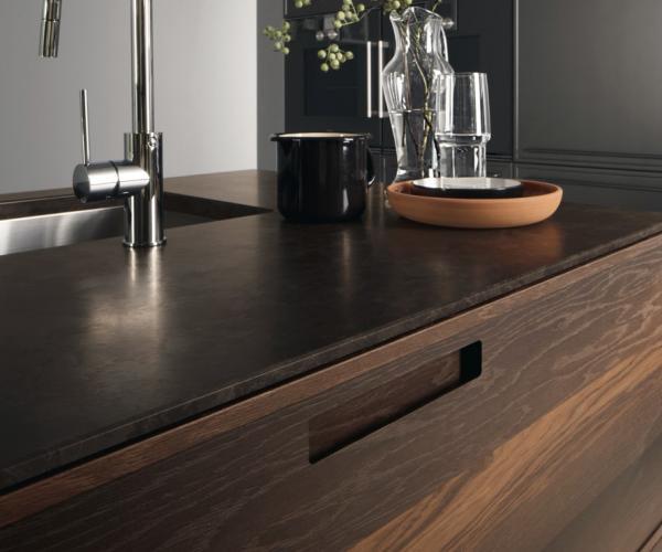 Cucina acciaio e legno